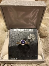 Beautiful Sterling Silver Ring with Purple Stone Gainesville, 20155