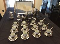 Expresso coffee set with 12 expresso cups....never used Montréal, H1E 7C4