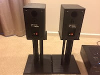 Onkyo HT-R500 receiver and Boston Acoustics CR6 speakers . Silver Spring