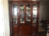 brown wooden china cabinet with cabinet Edmonton, T6V 1T3