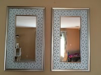 Two rectangular 22.5 x 37.5 mirrors teal and silver Secaucus, 07094