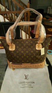 brown Louis Vuitton Monogram leather tote bag Falls Church, 22041