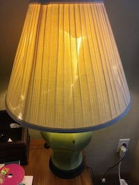 White and green table lamp Waterloo, 50702