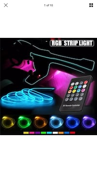 Light led car sound Activation remote control بروسار