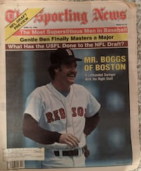 Sporting News featuring Wade Boggs April 1984 Chicago