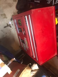 red and black Craftsman tool chest