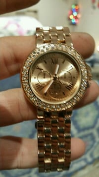 round gold-colored Rolex chronograph watch with link bracelet Pontoon Beach, 62040