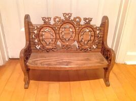 Beautiful Carved Doll Bench