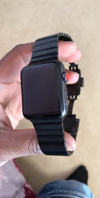 space black aluminum case Apple Watch with black sports band Burnaby, V5A