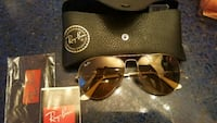 black Ray-Ban aviator sunglasses with case Austin