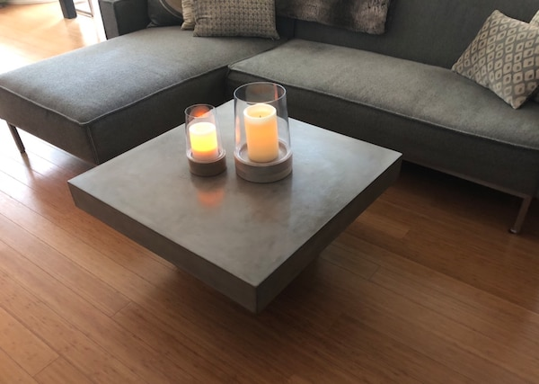 Cb2 Coffee Table.Cb2 Element Concrete Coffee Table