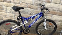 Blue and white full-suspension bike Ajax, L1T 3S4