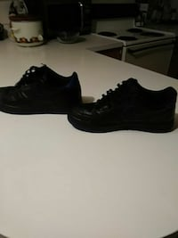 Air force1s low black and blue size 11.5
