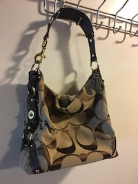 brown and black Coach monogram hobo bag Pittsburg, 94565