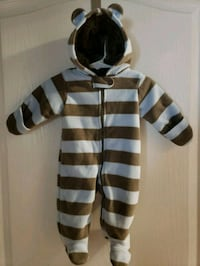 Carter's Baby Bear Hooded Pram Outfit 3 Months