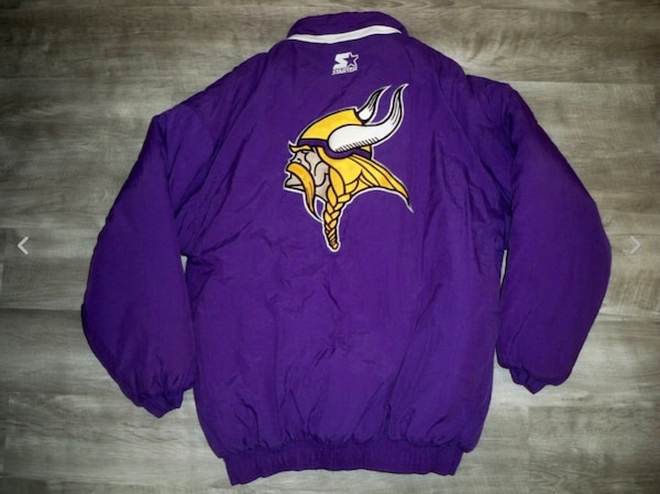premium selection 33610 01e99 Vintage Starter Minnesota Vikings NFL Purple Football Parka Coat Jacket  Men's M
