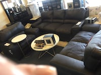 black leather sectional sofa with ottoman West Carrollton, 45449