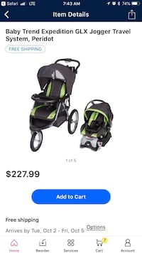 black and green travel system Hurricane, 25526