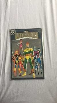 DC Comics The Outsiders comic book with black frame