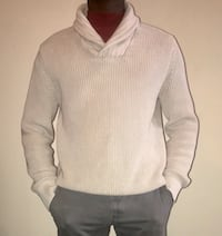 GAP Collared Sweater Tan/Light Brown/Creme