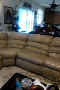 brown leather 3-seat recliner sofa Grayson, 30017