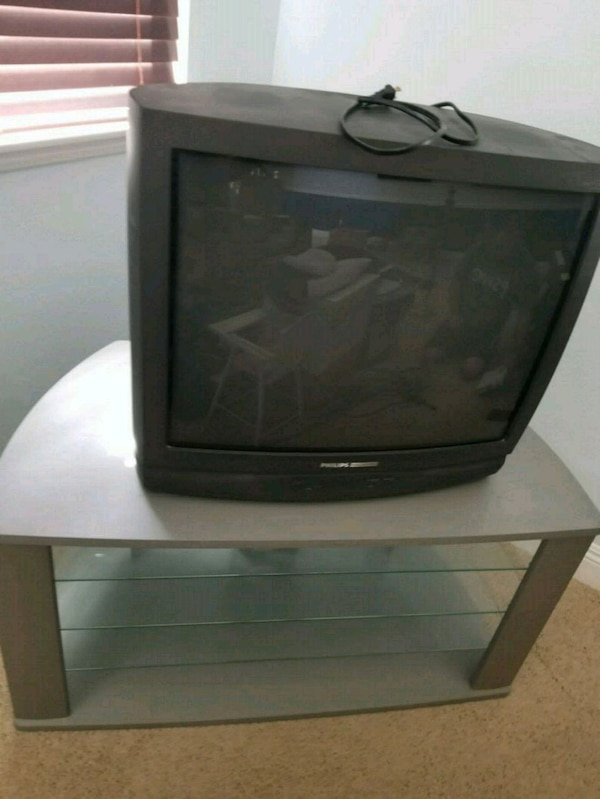 "26"" TV and stand"