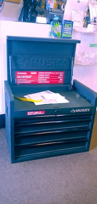 New display Husky 26 in. W 5-Drawer Tool Chest in Textured Black