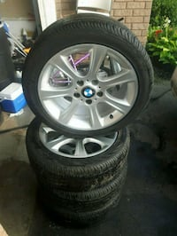 "2014 BMW 17"" rims tires  set Ajax, L1Z 1M1"