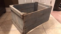 "Wood crate-bluish finish 23""x14""x11"" Hamilton, L9G 1S6"