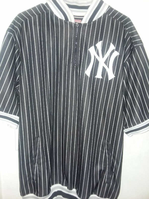 the latest 660b0 1cc66 black and white New York Yankees baseball jersey
