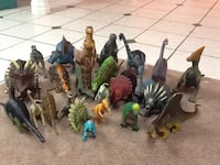 assorted animal and dinosaur plastic toys