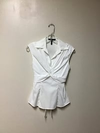 Women's BCBG MAXARIA White sleeveless stretch top w/tie back… Size-XS