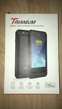 black Trianium Battery Case for iPhone box