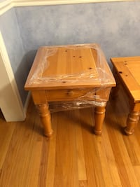 Brown wooden single drawer side table Towson