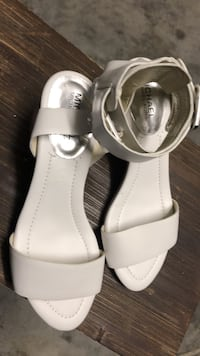 pair of white leather open-toe sandals Myrtle Beach, 29588