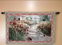 Tapestry with hanging rod and brackets. 56 inches wide by 36 Erin, N0B 1T0