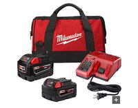 Milwaukee M18 batteries Xc 5.0, hd 9.0, and charger and bag. Markham, L6E 0R5