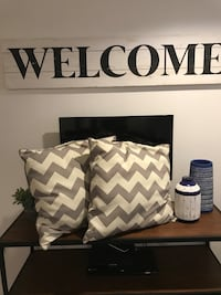 Two large grey chevron pillows Silver Spring, 20901