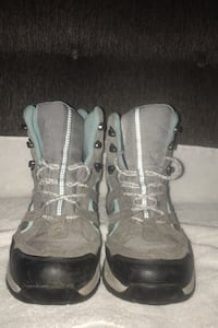 """Boots, LLBean 6"""" grey with teal blue"""