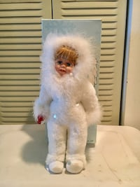 "14"" Porcelain Snow Angel Doll Doll with stand -- NEW, NEVER USED, WITH BOX"
