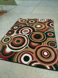 red, white, and black area rug Temple Hills, 20748