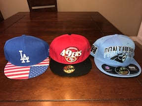 All 3 for only $15new unworn 59fifty hats -lot