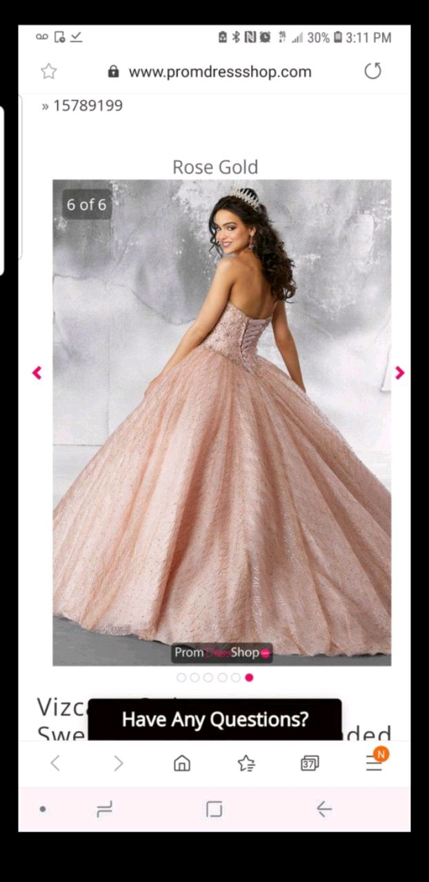 Quinceanera or sweet 16 birthday party dress