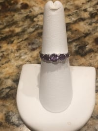 Sterling Silver & Amethyst Size 6 NEW Gainesville, 20155