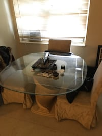 Big Dining table with 4 chairs