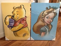 NEW Disney Store Pooh and Alice canvas Centreville, 20120