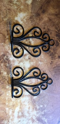 Black metal wall mount candle holders Citra, 32113