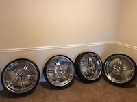 """24"""" rims and tires Hoover, 35216"""