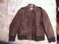 brown leather zip-up jacket size large Winnabow, 28479