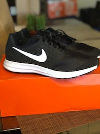 Pair of black-and-white nike low-top sneakers